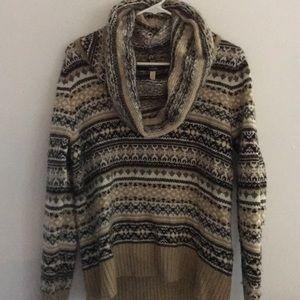 Kensie Sweater Size Medium Cowl neck Fall